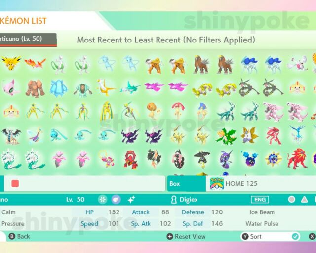 ✨SHINY✨ Legendary Pokemon + Over 2772 Pokemon! | Pokemon Home Sword Shield