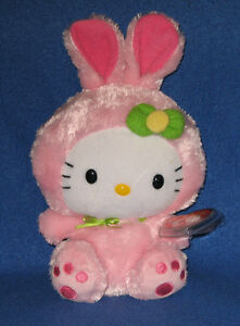 TY HELLO KITTY WITH PINK BUNNY SUIT the BEANIE BABY - MINT with MINT ... 496dad42567