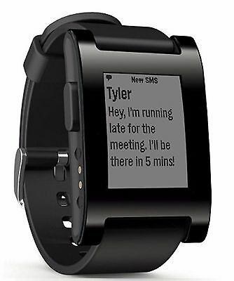 Pebble Smartwatch Classic For IPhone And Android Devices - Jet Black