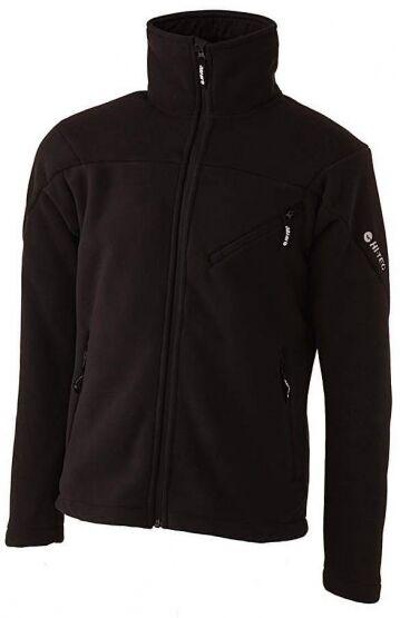 Mens Hi-Tec Tunuyan Wind Blocking Bonded Fleece Hiking Skiing Jacket Black Sizes