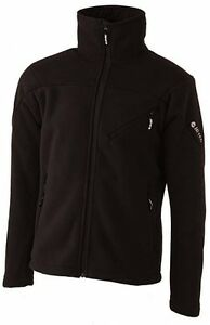 Mens-Hi-Tec-Tunuyan-Wind-Blocking-Bonded-Fleece-Hiking-Skiing-Jacket-Black-Sizes