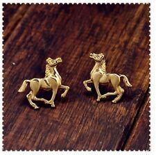Galloping Horses Pony Animal Stud Earrings Gift Kawaii