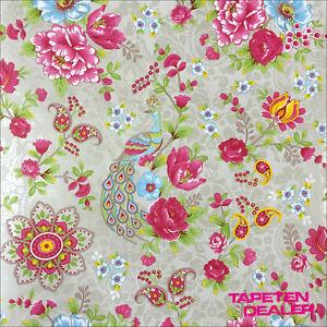 Tapete-PIP-Eijffinger-Pip-313052-Floral-Blumen-Voegel-Taupe-EUR-9-20-qm