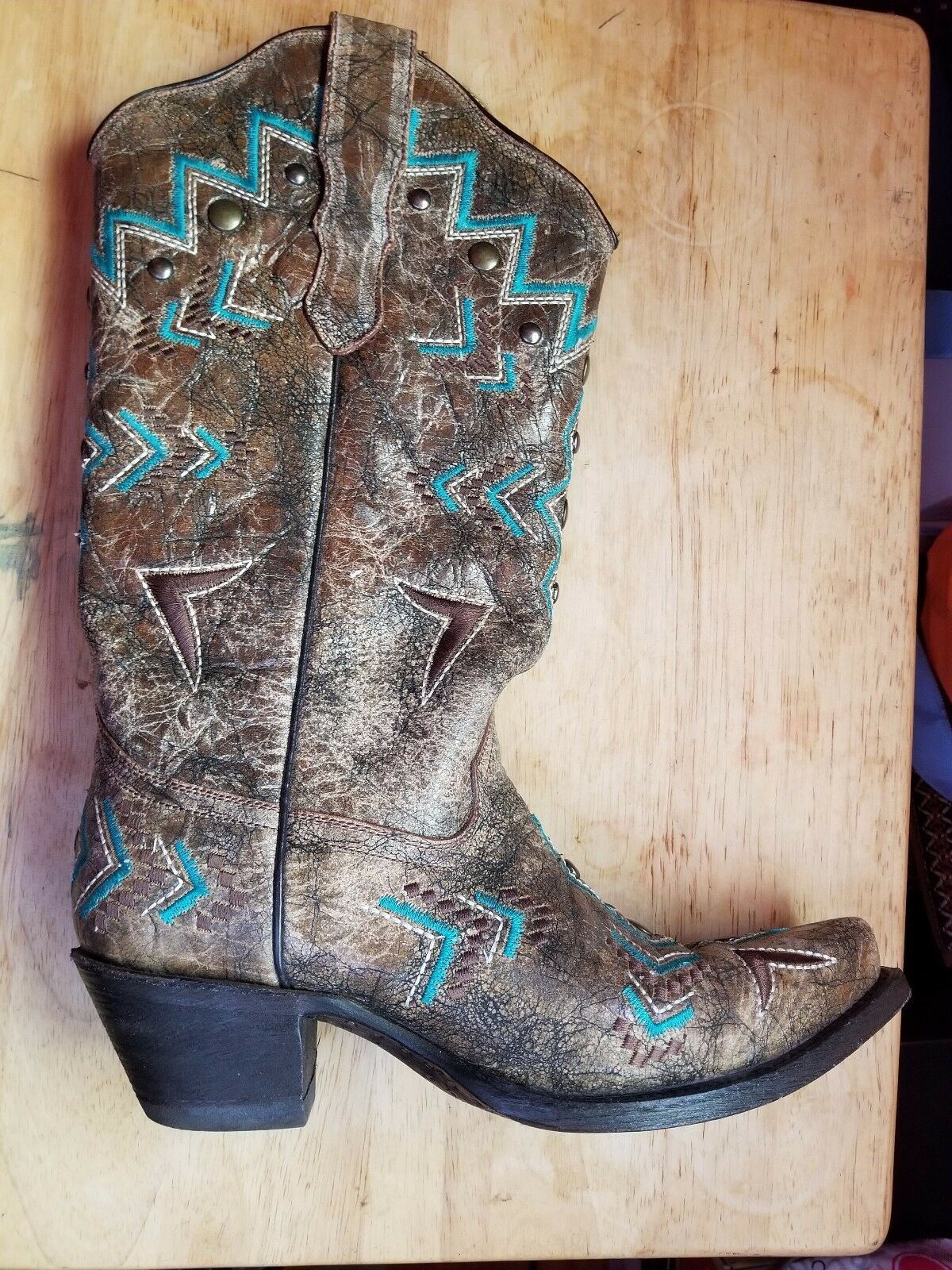 Corral Corral Corral Stiefel distressed Tall Sz  7.5 2be354