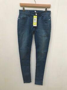 Details about adidas NEO Women's Super Skinny Fit Denim Jeans W28 L34 Blue Denim New