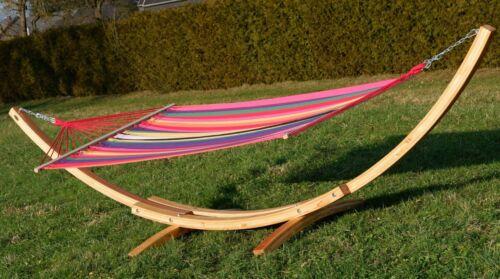 410 cm XXL Suspension nattes Châssis Châssis Hamac Hamac bois nature-Negril