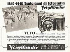 W9266 Voigtlander - Vito con obbiettivo Skopar - Pubblicità del 1940 - Advert