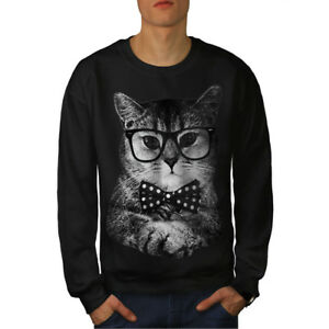 Cat Negro Man Men Sudadera Hipster Nuevo Fun g4qSWd8
