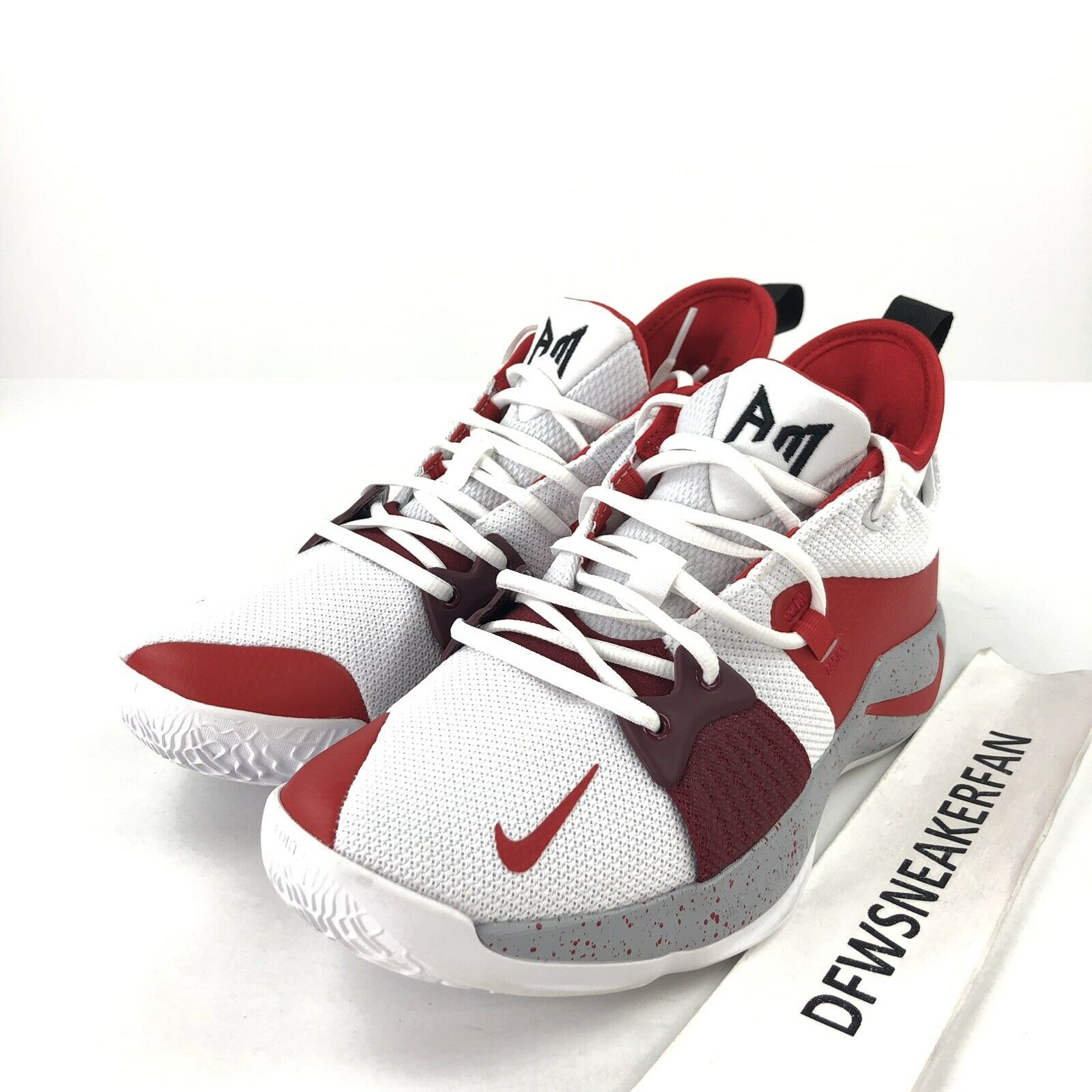 f1bc9e88eabc Nike PG 2 iD Men s Men s Men s 8 Basketball shoes Red White Speckle  CI0280-991