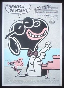 SNOOPY-Signed-Poster-Salutes-Afro-Cuban-Singers-U-S-Cuba-Ties-PEANUTS-Art