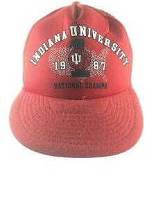 Indiana-University-1987-National-Basketball-Champions-Snap-back-Hat-IU-Trucker