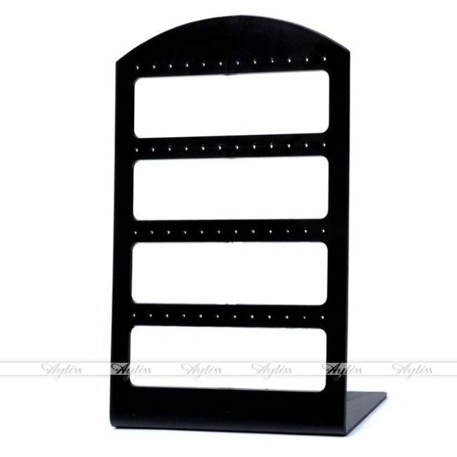 Black Display Rack Stand Holder Organizer For 24 Pairs Earring Jewelry Show