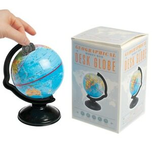 Dotcomgiftshop geographical money box desk globe world map in a gift image is loading dotcomgiftshop geographical money box desk globe world map gumiabroncs Gallery