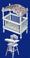 Dolls House - Canopy Cot NB671 & Highchair NB516