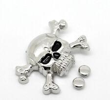 10Sets BD Silver Tone Skull Crossbone Spike Rivet Studs Spots 4.4cmx2.9cm,7mm