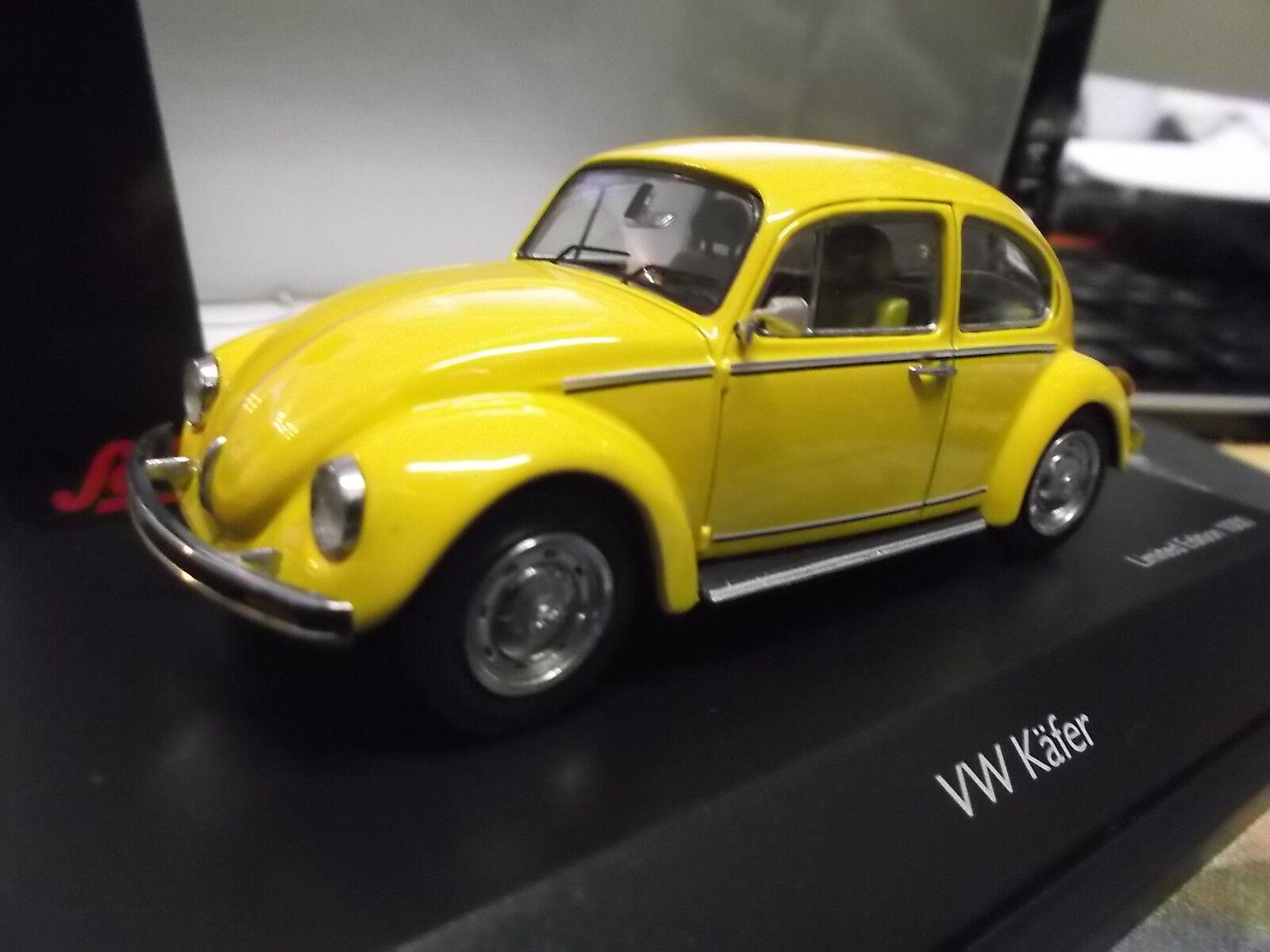 VW Maggiolino Volkswagen Beetle 1200 Sunny bug giallo giallo giallo giallo 1 1000 LIM Schuco 1 43 7add3a
