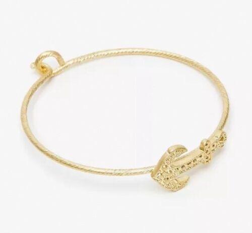 Jack Wills Gold Anchor Bangle Charmrope Bracelet BNWT Gift.