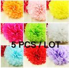 "5 Pcs Tissue Paper Pom Poms Flower Balls Wedding Decoration 4"" 6"" 8"" 10"" 12"" 14"""