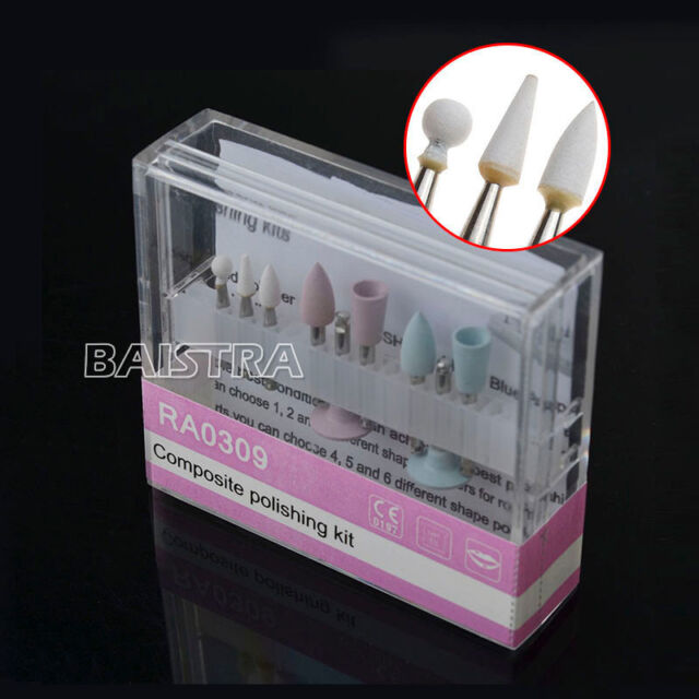 UK Dental Diamond Burs Composite Polish Kit for Low-speed Contra Angle RA-0309