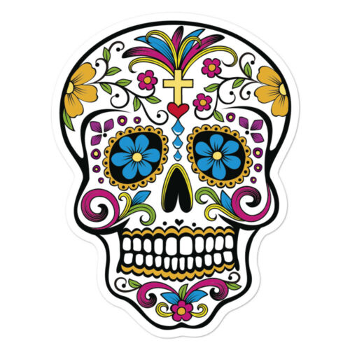 Catrina Day of the Dead Halloween Mexican Skull Decorative Stickers Decals