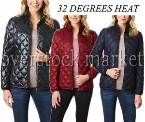 New Women S 32 Degrees Heat Quilted Packable Down Jacket