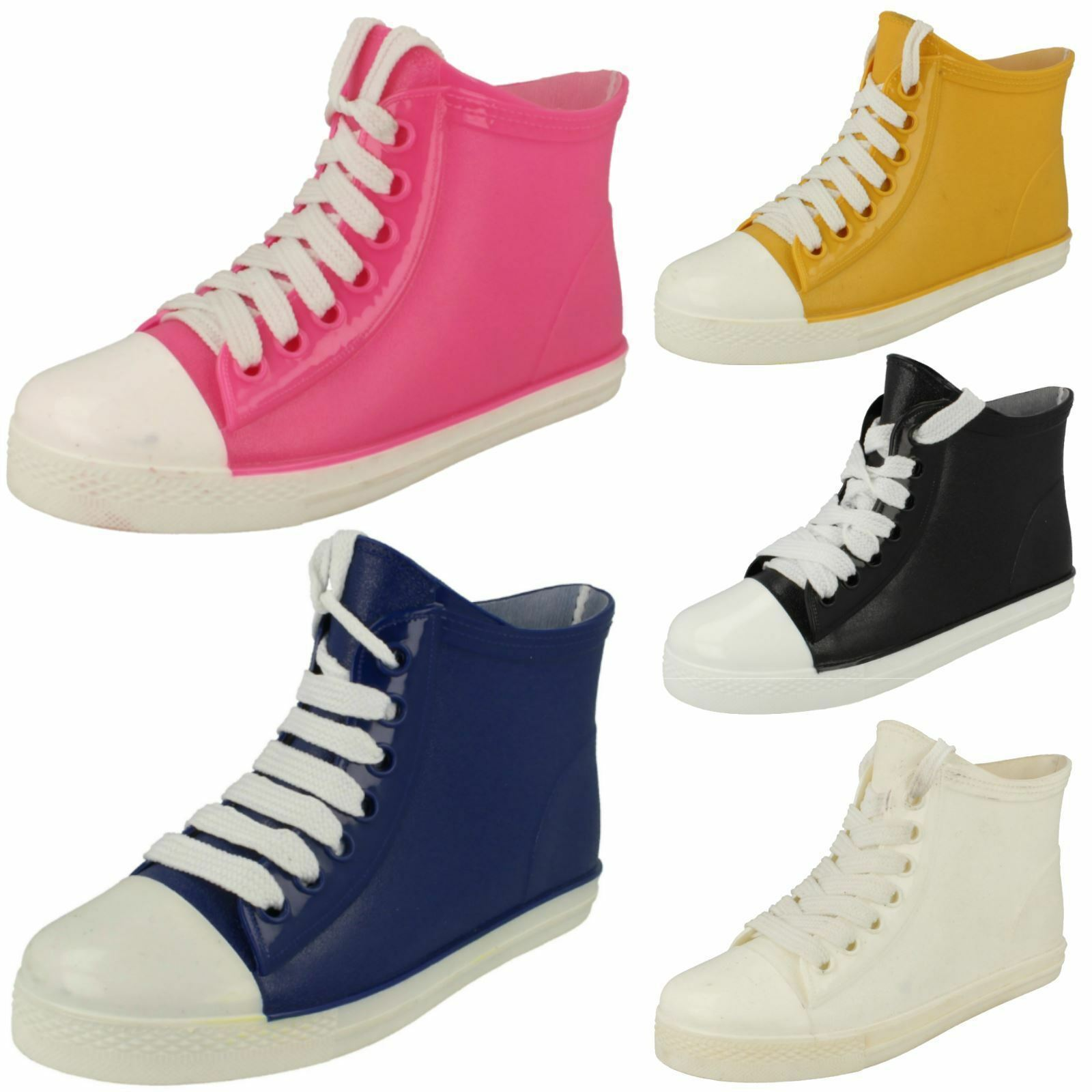 Ladies F4357 baseball ankle wellington boots by SPOT ON SALE NOW £9.99