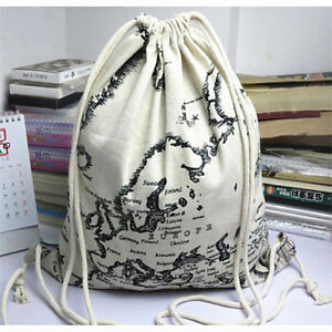 Ywa07 simple fabric bag linen drawstring backpack student book bag image is loading ywa07 simple fabric bag linen drawstring backpack student gumiabroncs Images