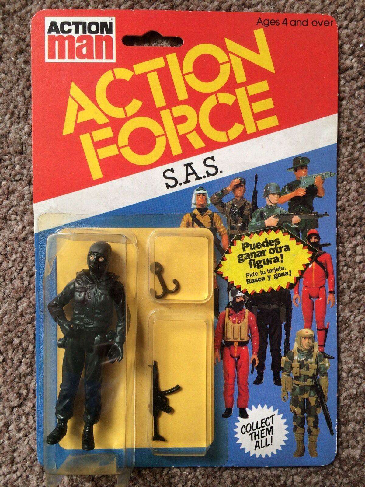 Action Force SAS  MOC MOSC Carded Palitoy SPANISH Sticker Offer PBP RARE