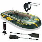Intex Seahawk 4 Inflatable Boat Set with Paddles, Pump and Motor Mount Kit