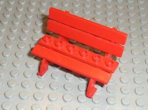 Banc-rouge-LEGO-Fabuland-Red-Bench-Seat-ref-2041-set-3798-3663