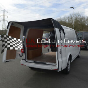 VW T5 TRANSPORTER (2003 - 2015) REAR BARN DOOR COVER - BLACK 401