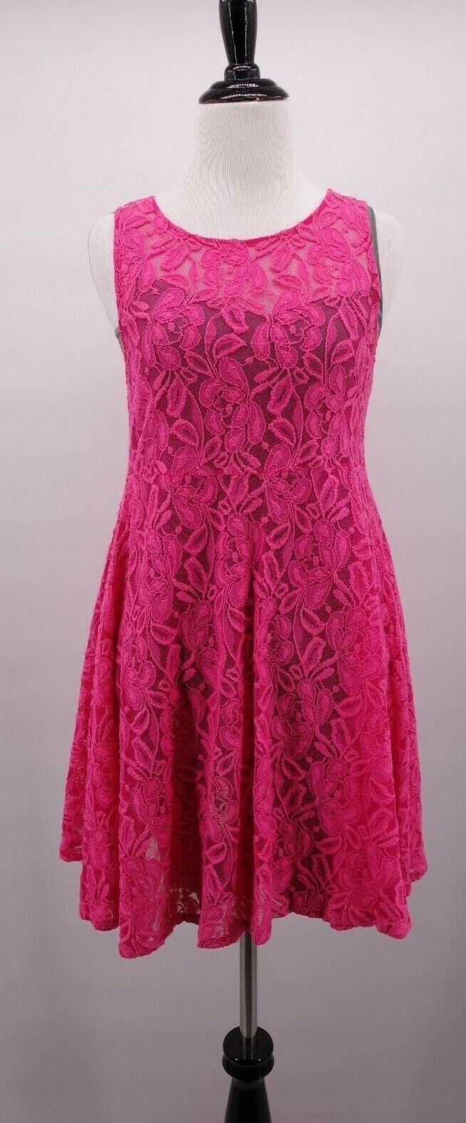 Free People XS Romantic Rosa Flower Lace Boho Beach Summer Dress & Seamless Slip