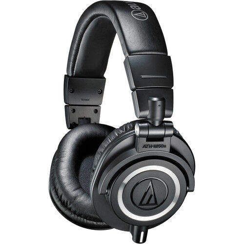 Black Audio-Technica ATH-M50x Monitor Headphones