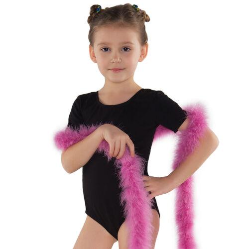 Ragazze Bambini a Maniche Corte Ginnastica Tuta danza classica TUTA MAGLIA turn TUTA ballettbody