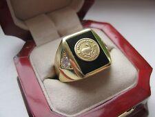 "Superb Jewelers Mens ""Krugerrand Gold Coin"" Ring"