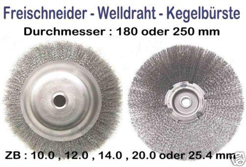 Wildkrautbürste Welldrahtbürste 250 x 20 mm Topfbürste Freischneider Motorsense