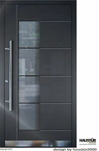 Relativ Aluminium Haustür Alu Haustür Haustüren flügelüberdeckend HT 5314 DZ15