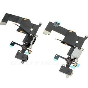 For iPhone 5 Black Charging Port - Replacement Charger Flex Cable USB Dock