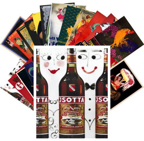 Vermouth Liquer Retro Alkohol Werbung CC1092 24 Postkarten Set