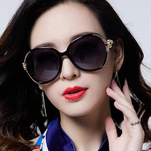 Women Oversized Sunglasses UV400 Huge Shades Outdoor Vintage Round Eyewear U nk