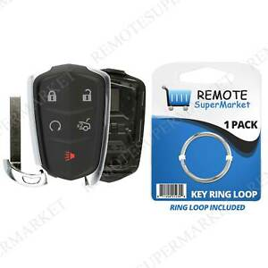 Replacement Remote Fob Case Shell Pad for Cadillac 14-17 ATS 16-17 CT6 14-16 CTS