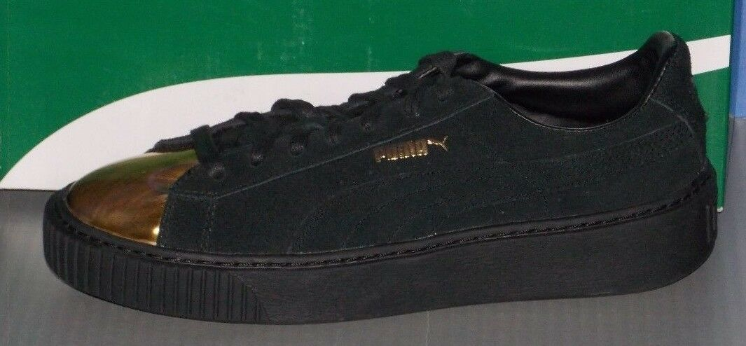 WOMENS PUMA SUEDE PLATFORM GOLD in colors GOLD / PUMA BLACK SIZE 8