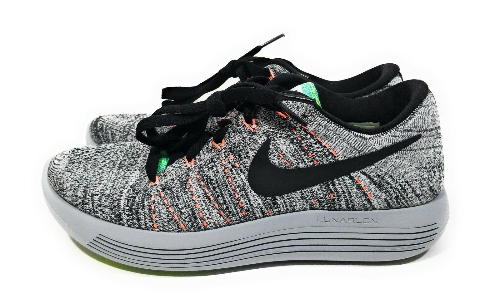 Nike Lunarepic Low Flyknit Womens Running shoes Grey Black Size 6.5
