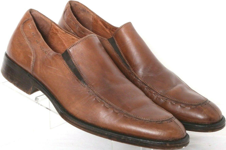 Johnston & Murphy 20-0016 Brown Leather Split-Toe Dress Oxfords shoes Men's 11M