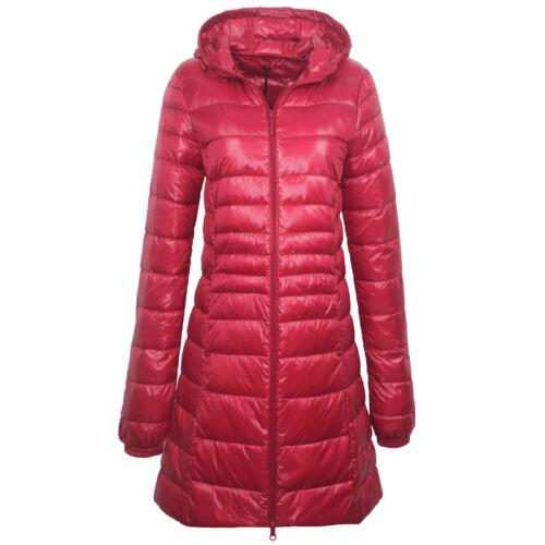 Womens Super Light 90/% White Duck Down Coat Jacket Warm Ultra-light Slender Hood