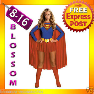 F95-Ladies-Supergirl-Super-Girl-Hero-Woman-Fancy-Halloween-Superhero-Costume