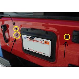 RUBBER-Jeep-JK-Wrangler-Tailgate-Plug-Set-Tramp-Stamp-Spare-Tire-Carrier-Delete