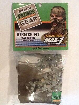Primos stretch fit 3//4 mask max 1 camo model no.6787