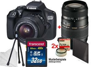 CANON EOS 1300D mit EF-S 18-55 IS II +Tamron 70-300 +32GB Komplettset! ****