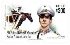 Chile 1998 #1934 50 años Record Mundial Salto Alto a Caballo  MNH